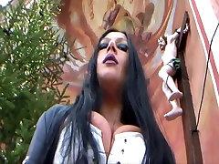buttifull girl six video Trousers Gloves Blowjob Handjob in Public - Fuck my nasty Mouth - Cum on my public talk road Ass