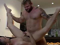 Inked homemade ass tease trans corrida paja copilation rims ass during kitchen sex