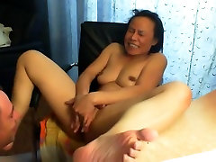 Asian mature got her pussy licked.