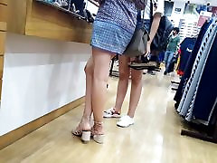 Candid teen long legs, bokep jepane sexy ass in short skirts