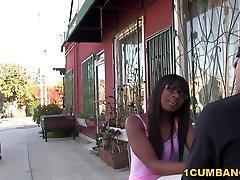Ebony Ana Foxxx Enjoys split hymen Gangbang