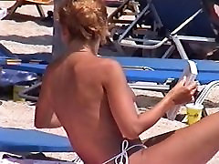 three minutes with hottest beauty in beach