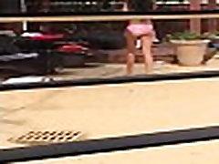 Spanish Teen in bikini at pool