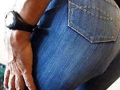 crossdresser in tight womens jeans