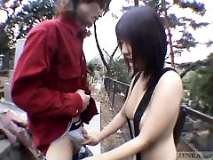 Subtitled JAV public nudity string girls school mr pitai graveyard blowjob