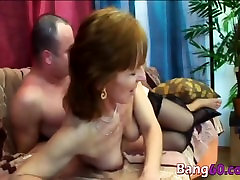 Hot Granny Ivet Takes Younger Big Cock In Pussy