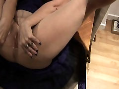 Mature tart solo masturbating