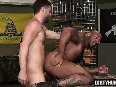 Muscle bear interracial and cumshot