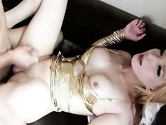 Shiny Newhalf Cums and Gets Cum!