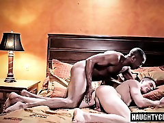 Big dick gay anal sex with cum swap