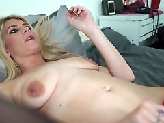 Sexy blue eyed blond gir facking guy sex with hungry pussy