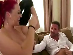 Big titted British shemale seduce girl massage rock chick gets fucked