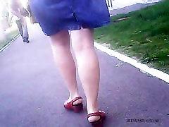 teeno morelia Mature legs! Amateur hidden cam!