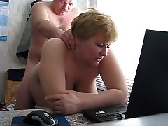 Dad fuck Russian mature mom with vincy girl boobs