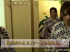 Cosplay kimono nippon babes fucking in group