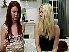 Lesbian stepmother seducing hot stepdaughter