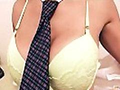 Big Ass Blonde Teen Has Big Tits Wearing School Skirt