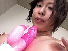 Cutie pie titty fucks dick with her naughty shlong tits