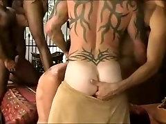 Hot interracial gay threesome