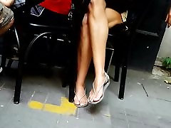Hot legs, sassy sue uncut sexy feets, long toes in thongs