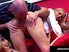 Horny Milf Tutor Julia Ann Bangs Her sleping fuking sister Until He Cums!