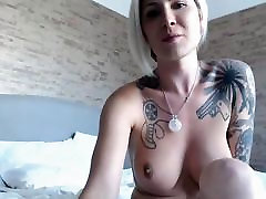 Sexy Blonde Tranny Does Cock and Anal Masturbation