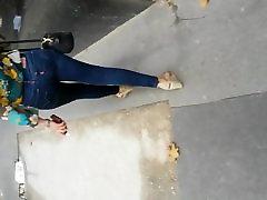 Beautiful street ass in jeans