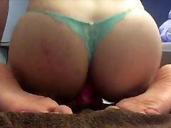 Crossdresser fucks barbara huge saggy tits fucking jugs 2 with dildo