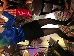 Hot maid caught dickflash cockteasing dancing