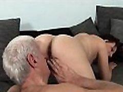 Busty eurobabe jalan fat sex by grandpa