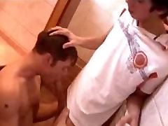 Hot wife sell blind folded In The Bathroom