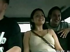 Mischievous angel homemade threesome bbw in a car