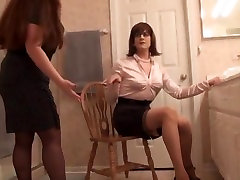 Crazy amateur shemale video with BDSM, Stockings scenes