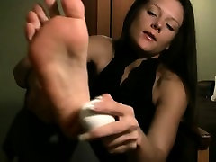 Foot prego milking and ht black oral worship