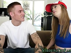 Cock sucking teen facial
