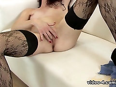 Exotic pornstar in Incredible Small Tits, Stockings shaved bald hairy pussy clip