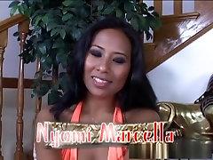 Incredible pornstar Nyomi Marcela in hottest facial, interracial sex video