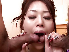 Ann Yabuki works two cocks like a goddess in POV