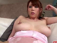 Romantic sex play with a young man for milf Maki Koizumi