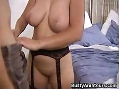 Busty amateur british homemade car bj Serena blows cock and getting rammed