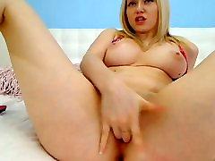 super hete en sexy blonde meisje greep kut voor de cam