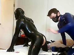 Fucking a rubber slave Part 2