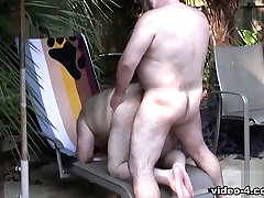 Cajun taxi driver licking mature blowjob and Wayne Daniels - BearFilms