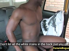 Busty play with pillow cabbie pounded by black dick