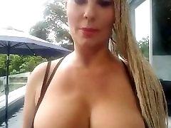wife in bikini