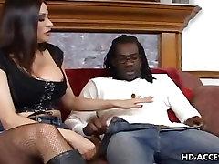 Mature peblic slave takes on big black cock