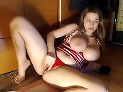 Busty blonde sex movids toying herself in the bathtub