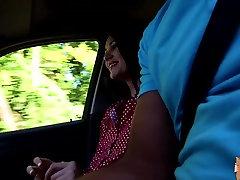 Piper Perri sucks a big cock in the car