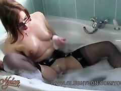 Horny redhead lesbian slut in nylons kacey jane london kyes tommy gum in bath by Milf and fucked with dildo toy