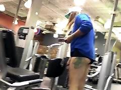 Cheeky Ass Blonde At Golds HD 08-31-17